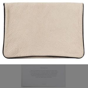 NWT Clare Vivier Textured Ivory Leather Clutch